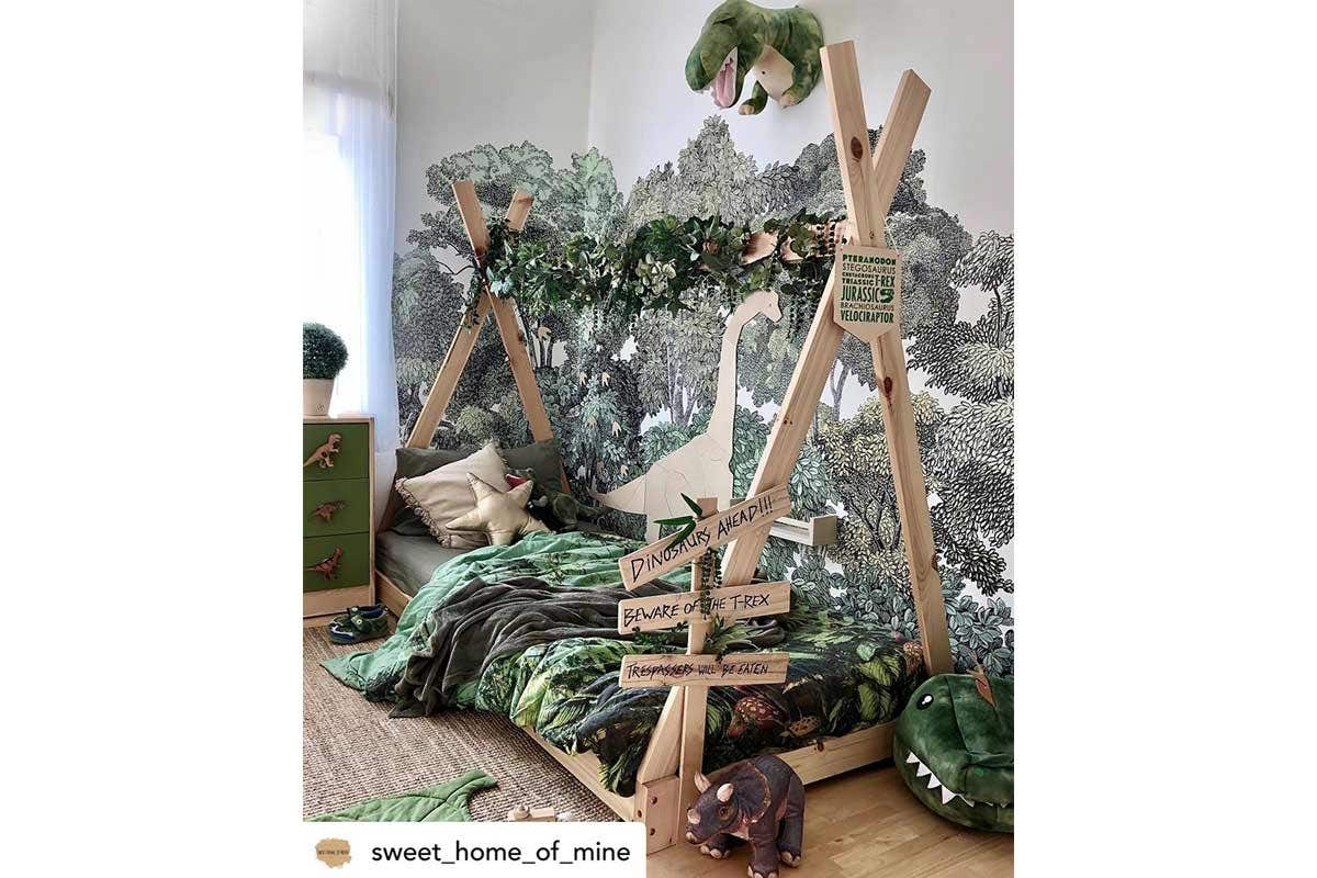 Dino Dreams & Boho Scenes - Customer Bedroom Feature February 2021