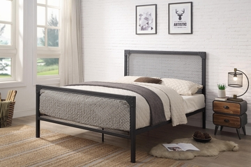 Weybridge Modern Industrial Black Metal Bed Frame Double / King Size