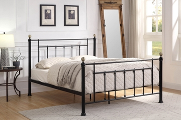 Harpenden Black Metal Bed Frame Double / King Size