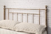 Harpenden Brushed Brass Finish Metal Bed Frame Double / King Size