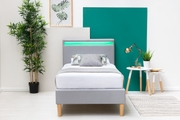 Wentworth LED Headboard Grey Fabric Bed Frame Single Bed Frame