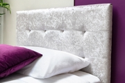 Lowther Silver Crushed Velvet Ottoman Storage Single Bed Frame