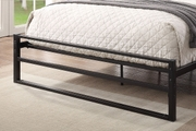 Hartfield Black Metal Double Bed Frame