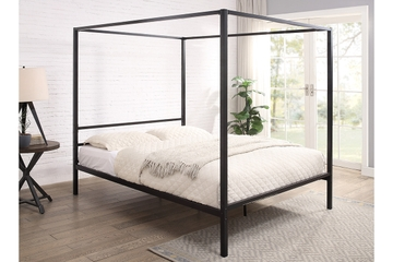 Chalfont Black Four Poster Metal Bed Frame Single/Double/King Sizes