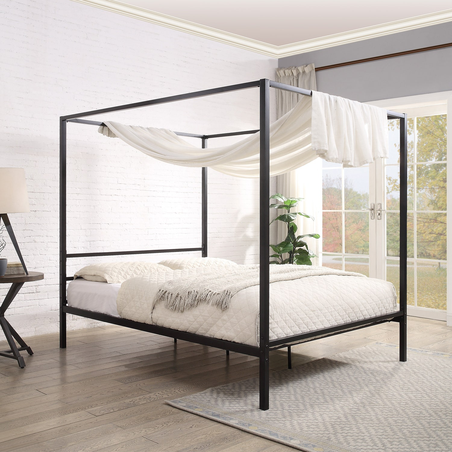 Chalfont Black Four Poster Metal Bed Frame Single Small Double Double King Sizes Crazypricebeds Com