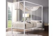 Chalfont White Four Poster Metal Bed Frame Single/Double/King Sizes