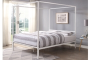 Chalfont White Four Poster Metal King Size Bed Frame
