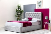 Thorpe Crushed Velvet Chesterfield Style Storage Double Bed Frame