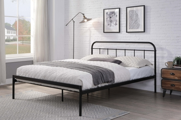 Bourton Modern Black Metal Bed Frame Single / Double / King Sizes