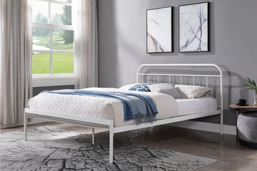 Bourton Modern White Metal Bed Frame Single / Double / King Sizes