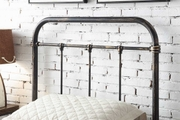 Burford Victorian Hospital Antiqued Black Metal Bed Frame - Single / Double / King Size