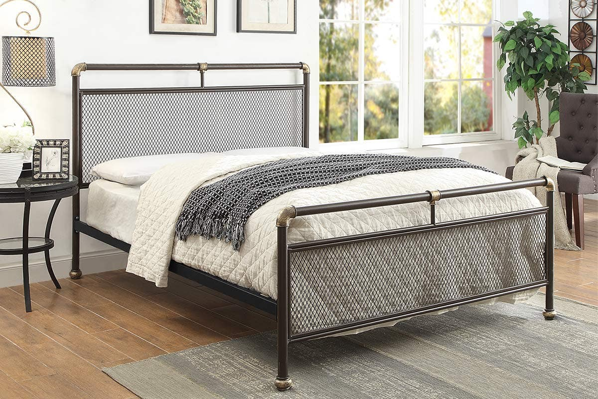 Cambridge Industrial Metal Bed Frame Single Double King Size Crazypricebeds Com