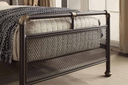 Cambridge Industrial Scaffold Pipe Style Brown Metal Bed Frame Single