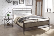Cambridge Industrial Scaffold Pipe Style Brown Metal Bed Frame
