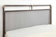 Cambridge Industrial Scaffold Pipe Style Brown Metal King Bed Frame