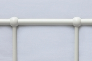 Henley Victorian Hospital Style White Metal Bed Frame - Single / Double / King Size