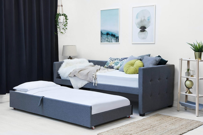 Holyrood Charcoal Fabric Day Bed With Guest Bed