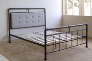 Oxford Industrial Scaffold Pipe Style Brown Metal Bed Frame