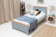 Rostherne Farmhouse Grey Solid Wooden Panel Single Size Bed Frame