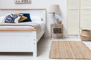 Rostherne Farmhouse White Solid Wooden Panel Double Size Bed Frame