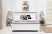 Rostherne Farmhouse White Solid Wooden Panel King Size Bed Frame