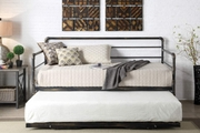 Banbury Black Metal Brushed Antiqued Bronze Day Bed with Guest Trundle