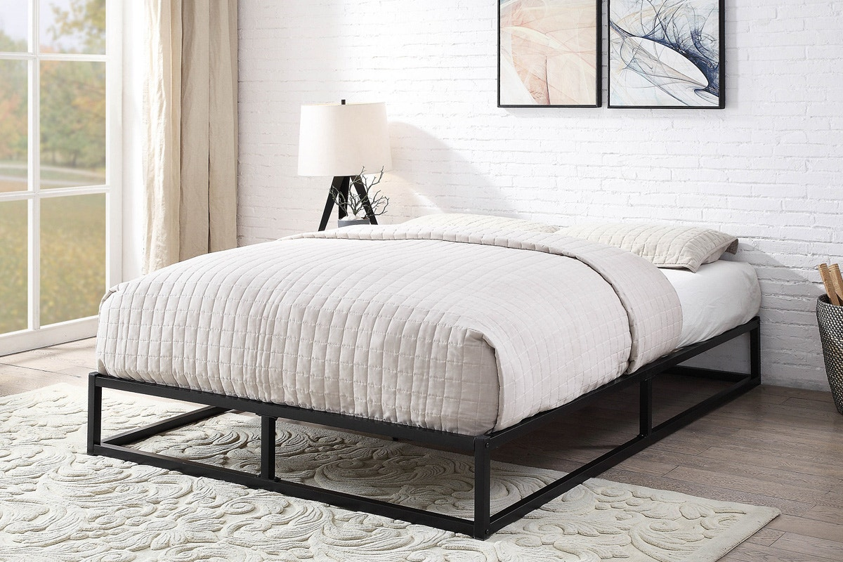 Amersham Platform Black Metal Bed Frame Single Small Double Double King Size Crazypricebeds Com