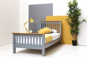 Pickmere Grey Solid Wooden Pine Bed Fame. Single / Double / King Sizes