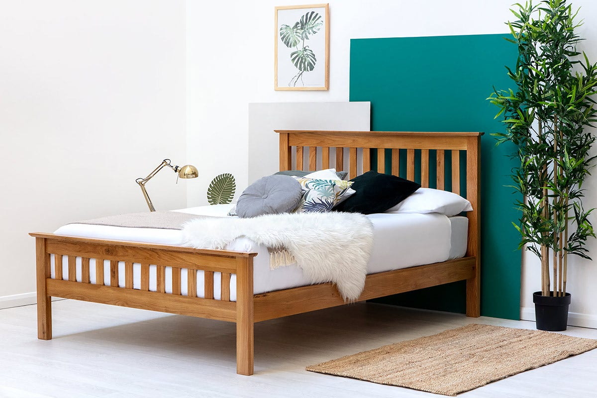 Chelford Solid Oak Wooden Bed Frame Double King Size Crazypricebeds Com