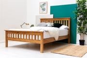 Chelford Solid Oak Farmhouse Wooden Double Bed Frame