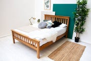 Chelford Solid Oak Farmhouse Wooden King Size Bed Frame