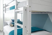 Alex Kids White Wooden Bunk Bed - Single Beds 3ft