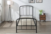 Belmont Industrial Style Black Metal Bed Frame Single / Double / King Sizes
