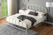 Belmont Industrial Style White Metal Bed Frame King 5ft