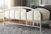 Belmont Industrial Style White Metal Bed Frame Double 4ft6