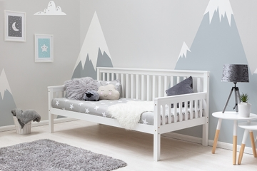 Blythe White Wooden Single Bed Frame 3ft