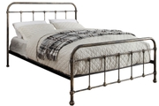 Burford Rustic Antiqued Victorian Hospital Style Metal Small Double Bed Frame 4ft
