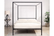 Chalfont Black Four Poster Metal Small Double Bed Frame 4ft