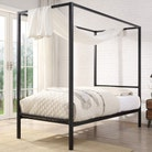 Chalfont Black Four Poster Metal Bed Frame - Single / Small Double / Double / King Sizes