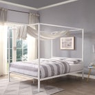 Chalfont White Four Poster Metal Bed Frame - Single / Small Double / Double / King Sizes