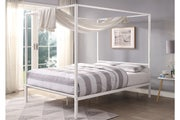 Chalfont White Four Poster Metal Bed Frame King Size 5ft