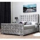 Dalkeith Diamante Silver Crushed Velvet Bed Frame - Double / King Size