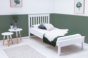 Disley Classic White Wooden Single Bed Frame 3ft