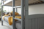 Finley Kids Grey Wooden Bunk Bed - Single Beds 3ft