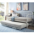 Harlow White Metal Day Bed with Guest Trundle - Single Size 3ft