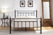 Harpenden Black Metal Small Double Bed Frame 4ft