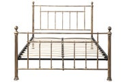 Harpenden Brushed Gold Metal Small Double Bed Frame 4ft