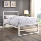 Hartfield White Metal Bed Frame - Single / Small Double / Double / King Sizes
