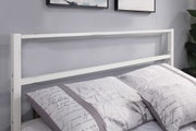 Hartfield White Metal Small Double Bed Frame 4ft