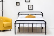 Henley Black Victorian Style Metal Small Double Bed Frame 4ft